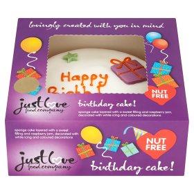 Happy Birthday Cake Nut Free Just Love Food Company