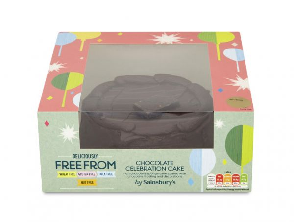 Sainsbury's Deliciously Free From Chocolate Celebration Cake