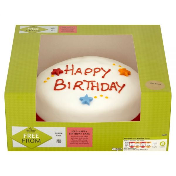 Morrisons Free From Happy Birthday Madeira Cake