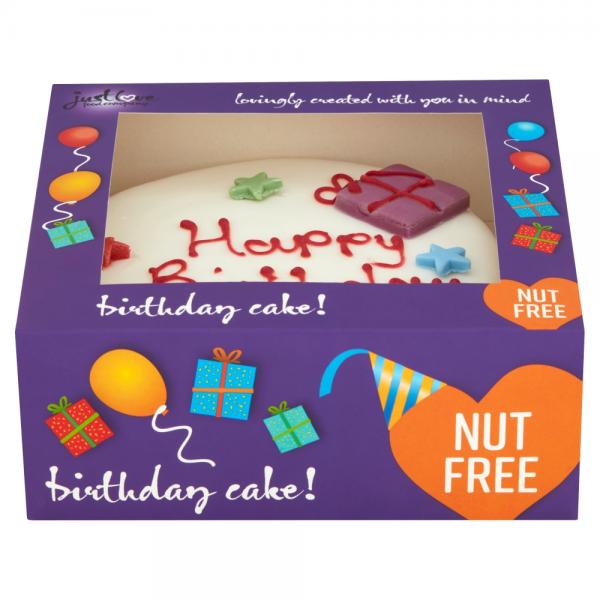 Fantastic Nut Free Cakes In Supermarkets Just Love Food Company Personalised Birthday Cards Vishlily Jamesorg