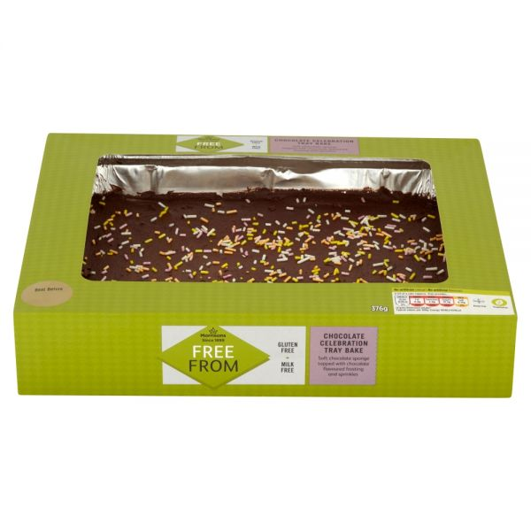 Morrisons Free From Chocolate Celebration Tray Bake