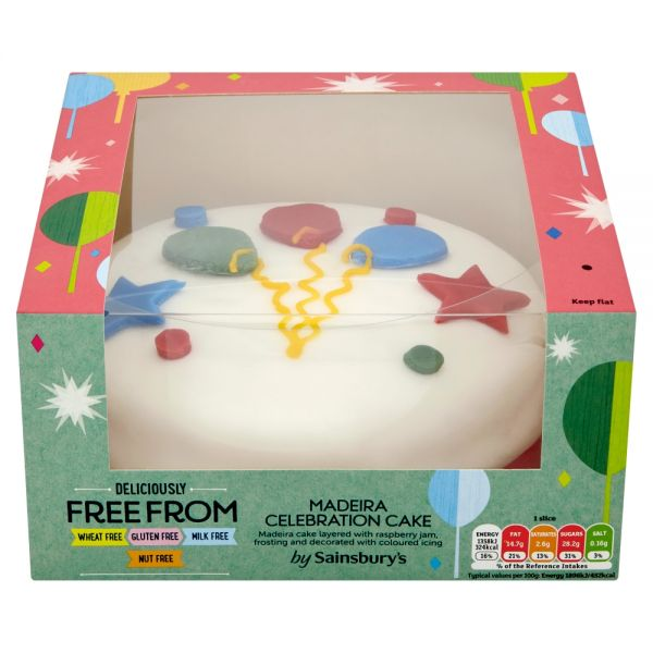 Sainsbury's Deliciously Free From Madeira Celebration Cake