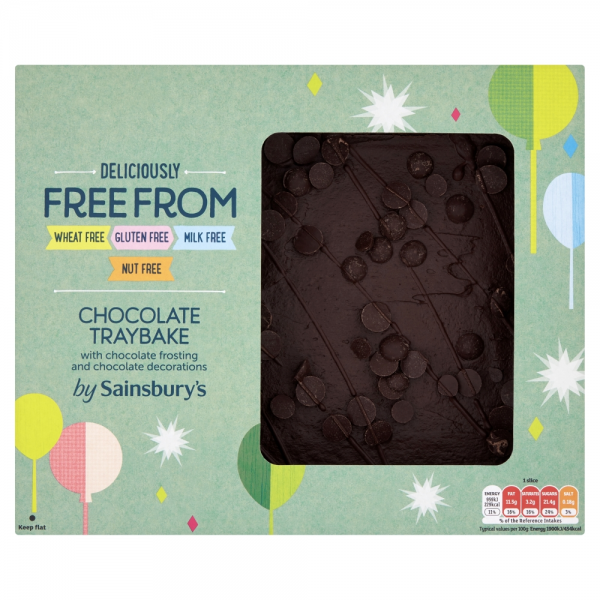 Sainsbury's Deliciously Free From Chocolate Traybake